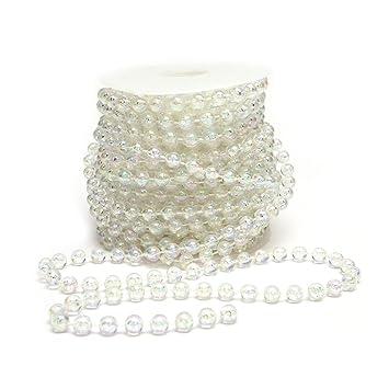 5x Perlengirlande Tischdeko für Hochzeit Perlenkette Perlenband Geburtstag Weiß