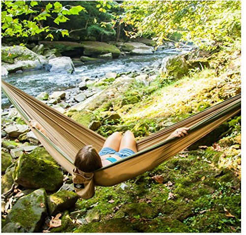 Legit Camping - Double Hammock - Lightweight Parachute Portable Hammocks for Hiking...