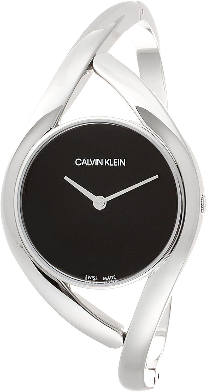 Calvin Klein Reloj Analógico para Mujer de Cuarzo con Correa en Acero Inoxidable K8U2M111
