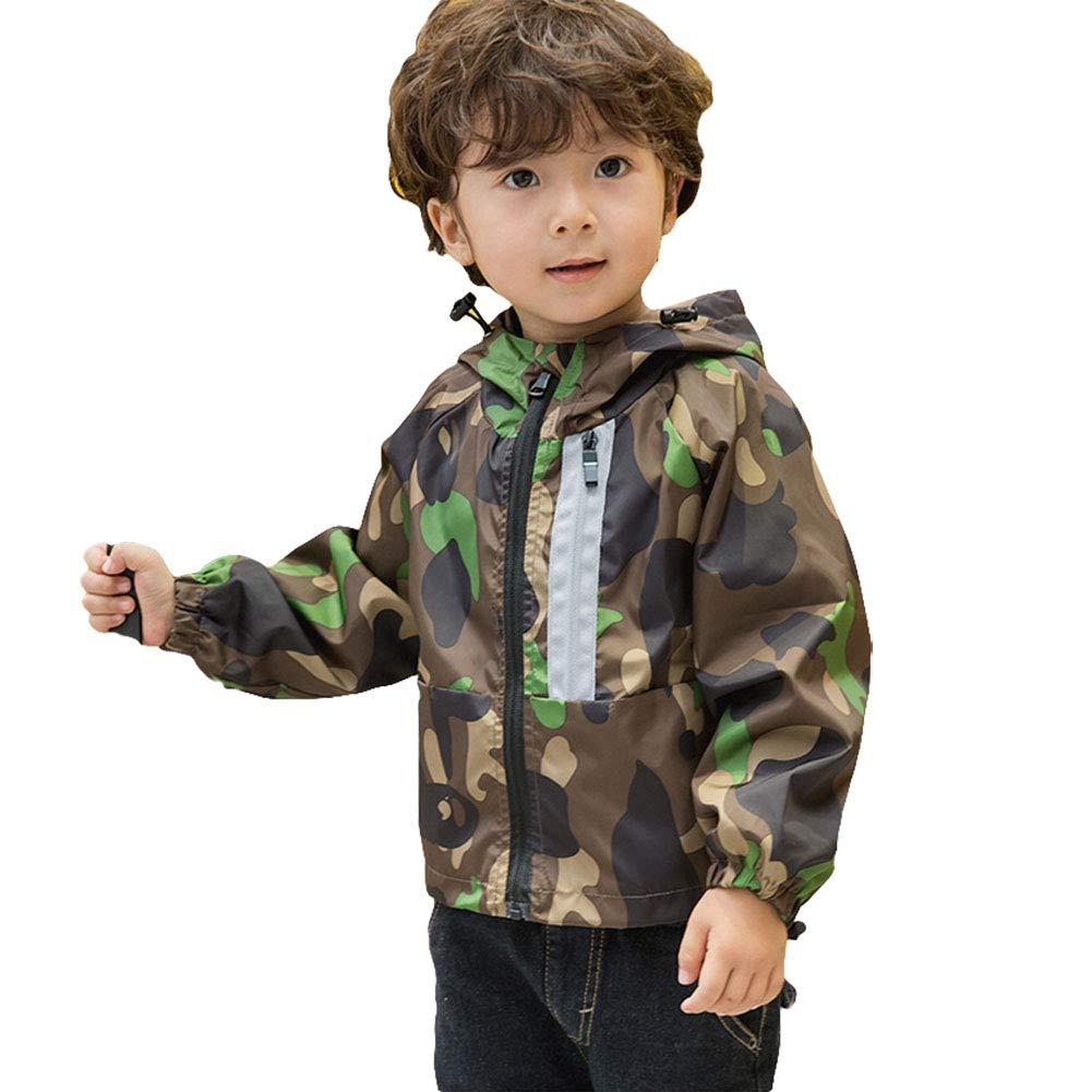 Little Boy Lightweight Camo Zip Hoddie Jacket Kid Spring Autumn Outwear Trench Coat Tops