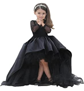 KekeHouse® Flower Girls Dress For Wedding Mesh Full Sleeve Kid Pageant Dress A-line