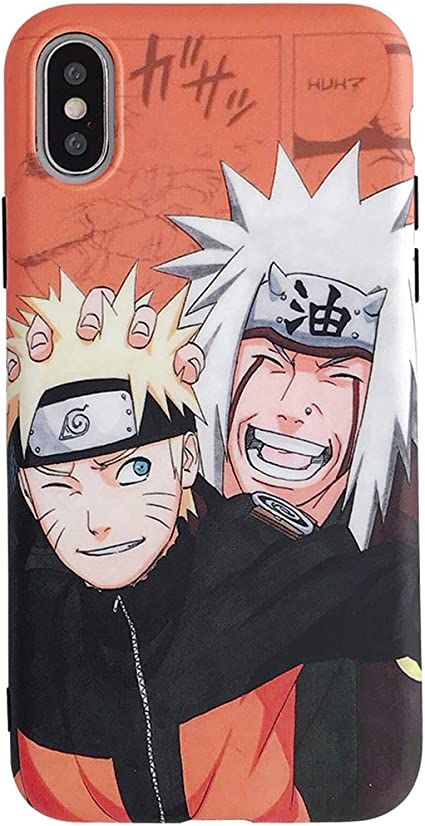 Naruto Coque pour iPhone 6 6S 7 8 Plus X XS XR XSMAX iPhone XR 6