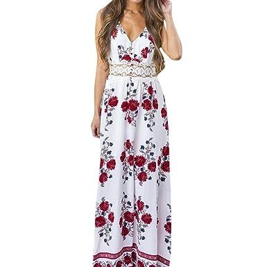 221a126c2b8 DAY8 Robe Femme Chic Soiree Robe Longue Femme Été 2018 Grande Taille Fleur Boheme  Robe De