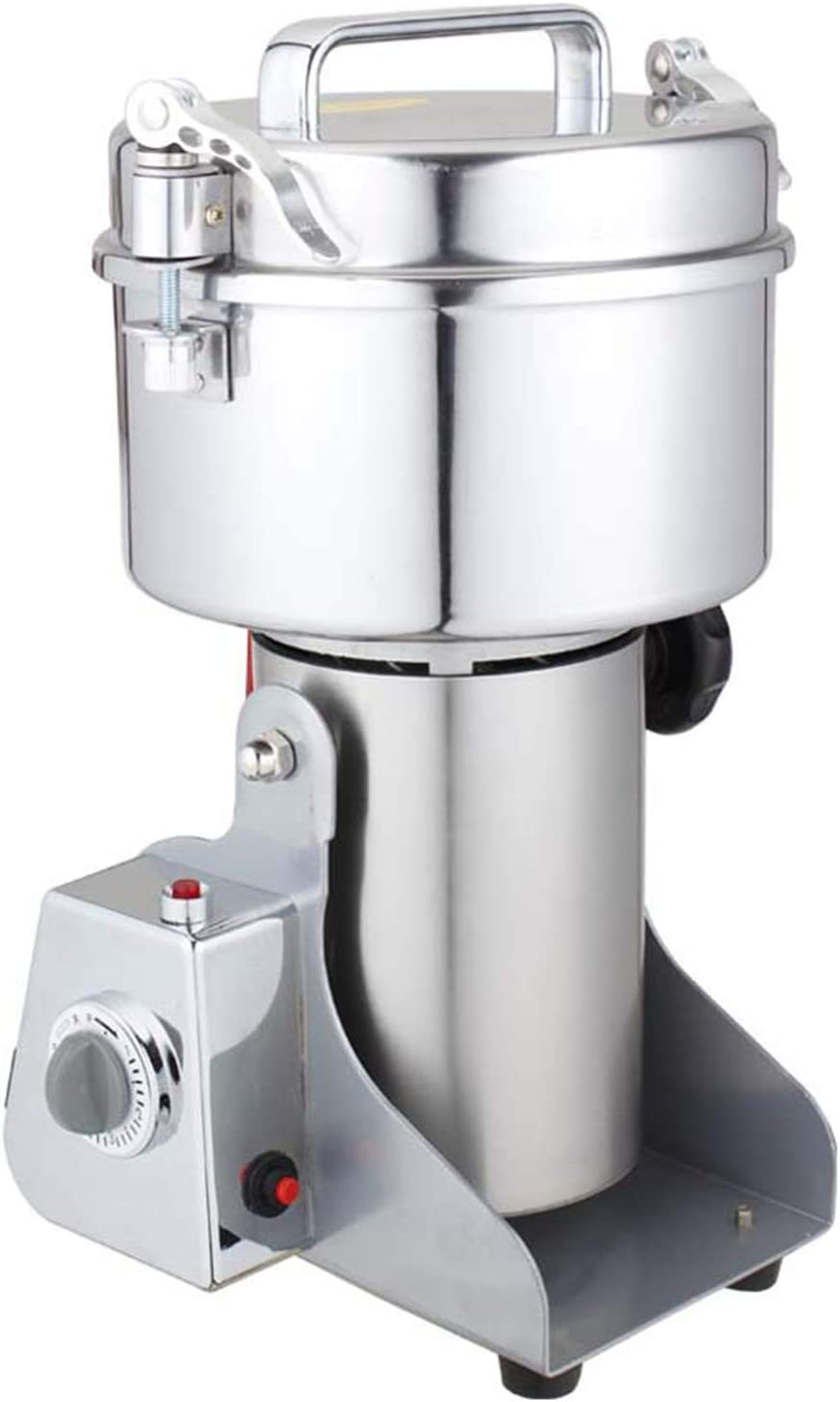 ALX-Dec 1000g Electric Grain Mills Grinder 304 Stainless Steel Food Mill for Corn/Coffee Beans/Herb/Spice, Home Portable Pulverizer Corn with Timer, 110V