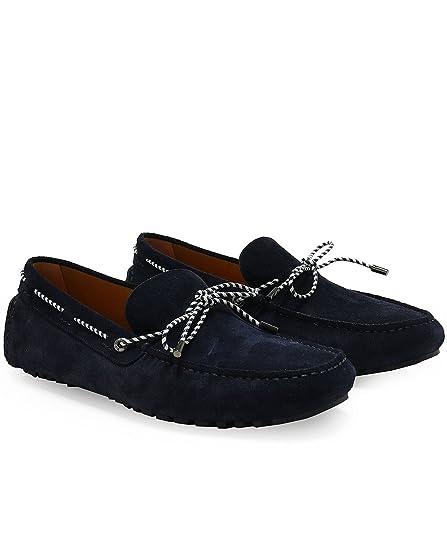 BOSS - con Tobillo Descubierto Hombres, Azul (Marino), UK 11: Amazon.es: Zapatos y complementos