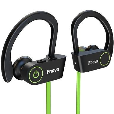 Auriculares Bluetooth, auriculares inalámbricos fnova, y IPX7 A prueba de sudor bluetooth 4.1 deporte
