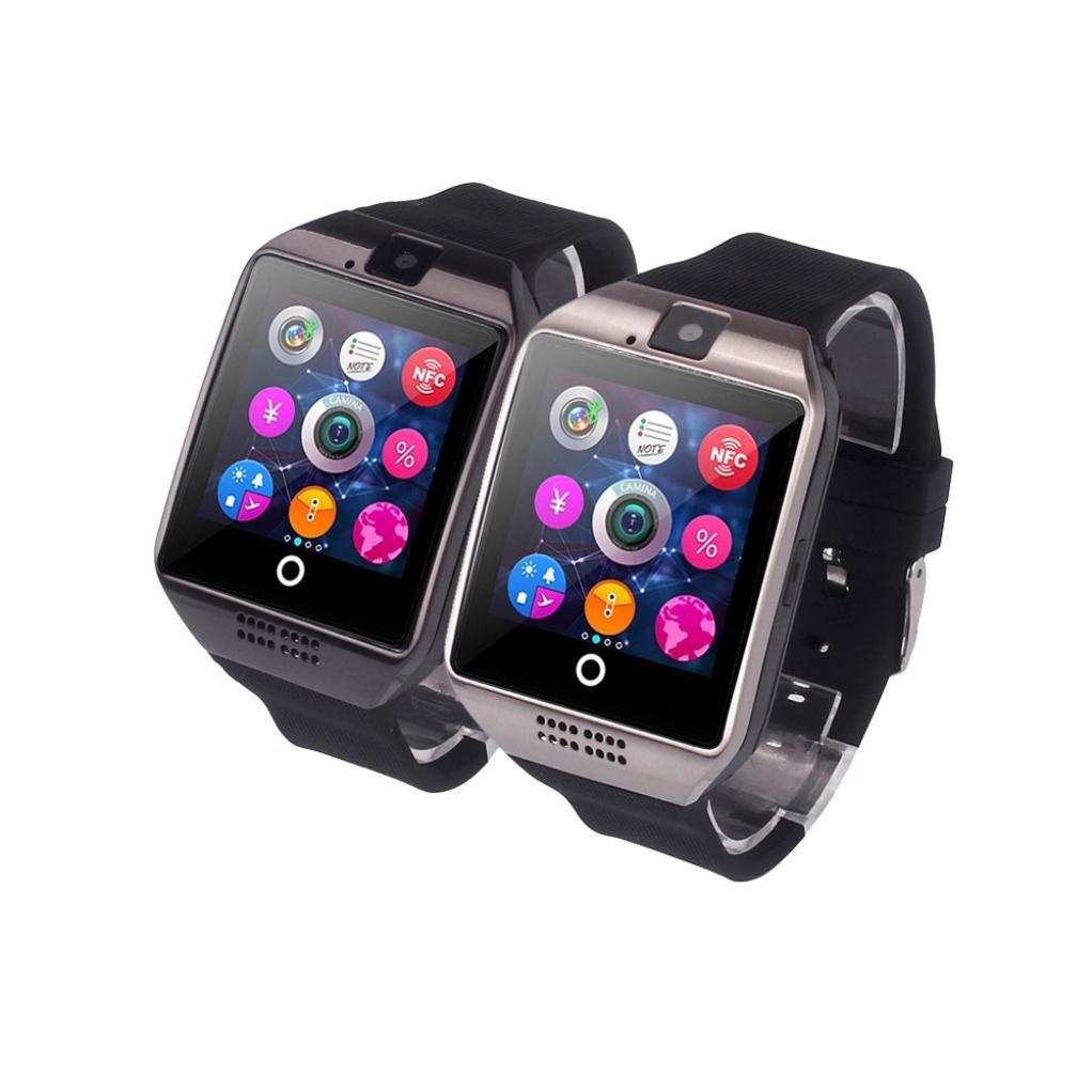 Reloj Inteligente Xinan Nuevo reloj inteligente Bluetooth Q18 Tarjeta SIM de soporte de cámara para teléfono inteligente Android (❤️Plateado): Amazon.es: ...