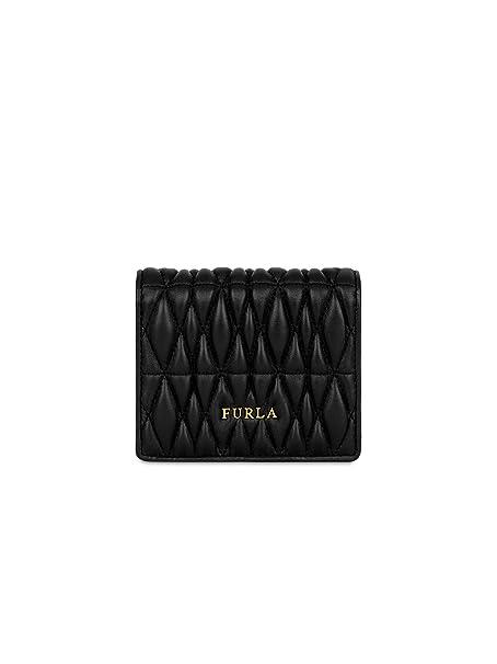codice promozionale b00e6 db6f6 FURLA Portafoglio Donna 993802 Pelle Nero: Amazon.it ...