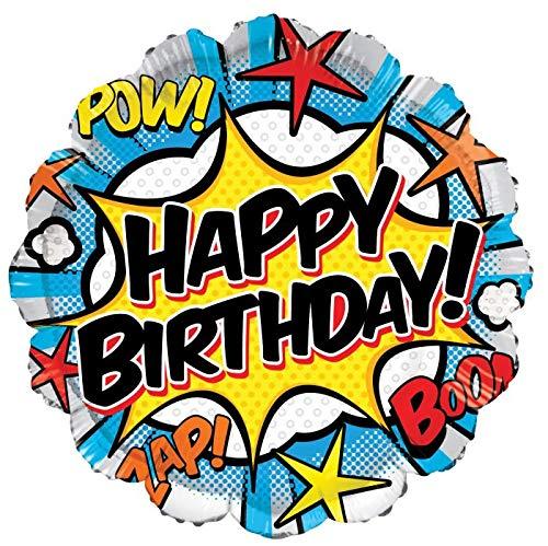 Happy Birthday Superhero Comic 18'' Mylar Balloon -