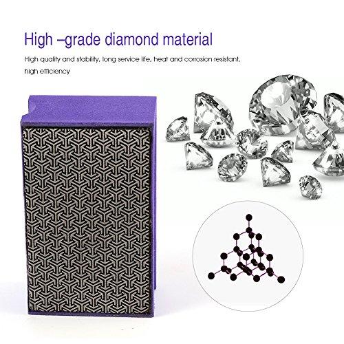 Zerodis 60-400 Grit Diamond Hand Polishing Pads Hand Sanding Pad Diamond Stone Sharpener Stone Marble Glass Granite(#400) by Zerodis (Image #1)