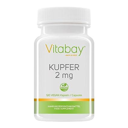 Cobre 2 mg - gluconato de cobre - puro vegano y natural - 120 cápsulas veganas