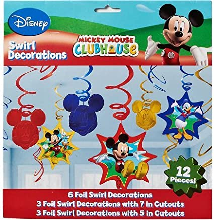 Mickey Mouse Clubhouse Balloon Birthday Banner Personalized Party Decoration
