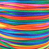 Rattail 2mm Rattail Satin Cord - Rainbow - 5m