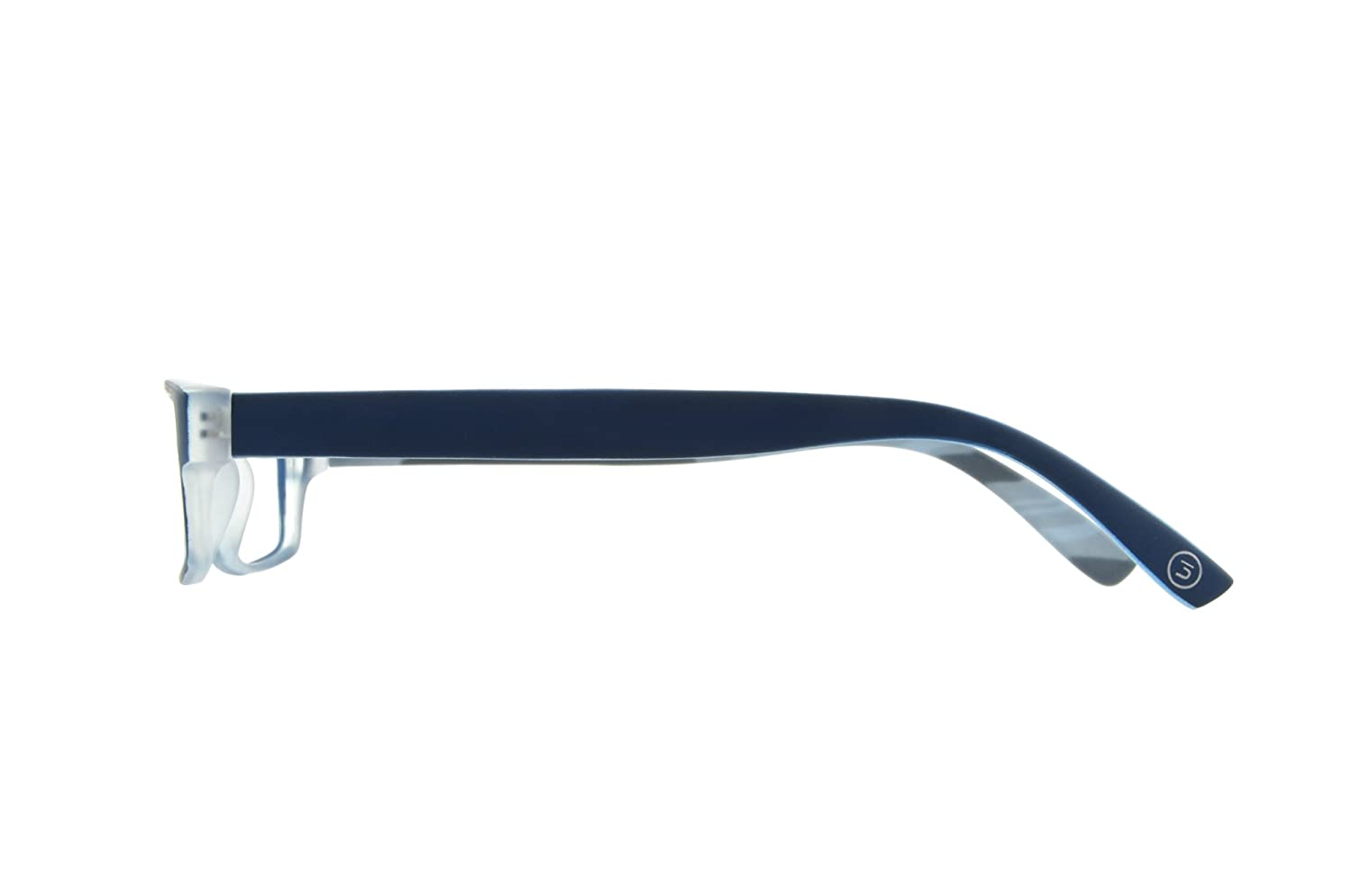 with a colored pattern on the inside of the temples in an array of colors and strengths Edison /& King Reading glasses