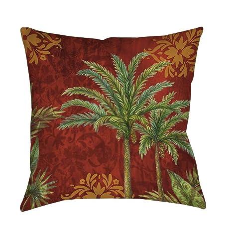 Amazon.com: Una sola pieza de cojín con diseño de palmas de ...