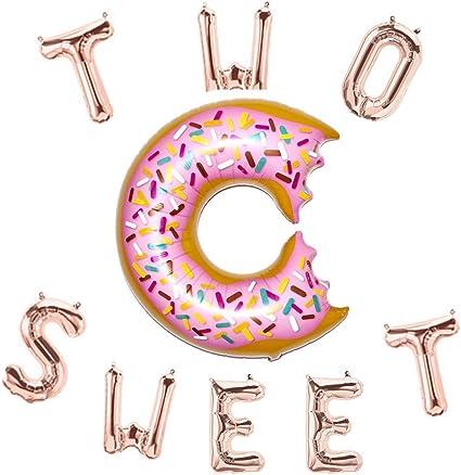 Amazon.com: Globo con dos letras y globos de donut de 16 ...