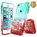 LG Rebel 3 LTE Case (L157BL), LG Phoenix 3 (M150), LG Fortune (M150) with [Tempered Glass Screen Protector] NageBee Quicksand Liquid Floating Glitter Flowing Sparkle Bling Diamond Case -OTJ