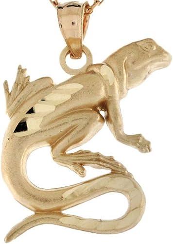 10k or 14k Real Gold Lizard Salamander Reptile Charm Pendant