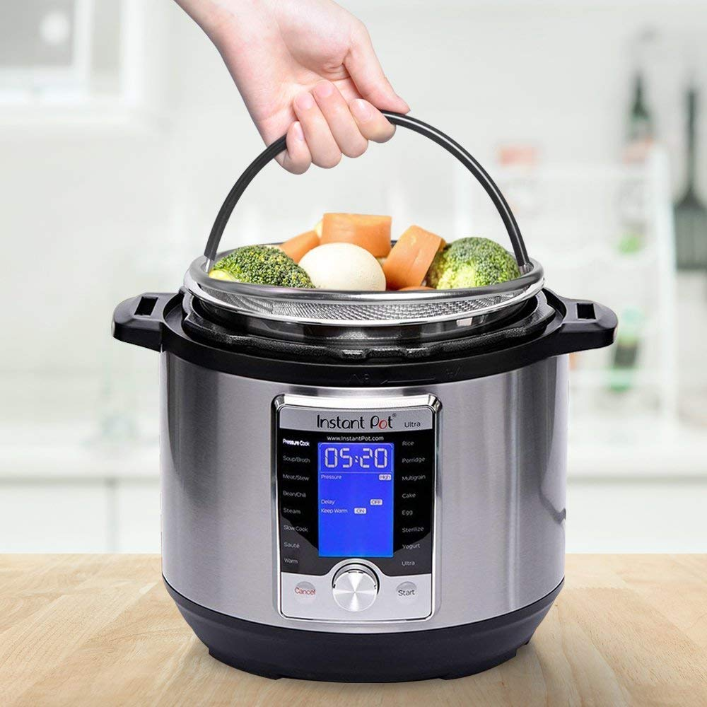 Instant Pot Accessories 6 and 8 qt Steamer Basket, Fits InstaPot Pressure Cooker, Insta Pot Ultra Egg Basket w/Silicone Handle and Non-Slip Legs (Instant Pot 6 and 8 Quart) by Unique Impression (Image #5)