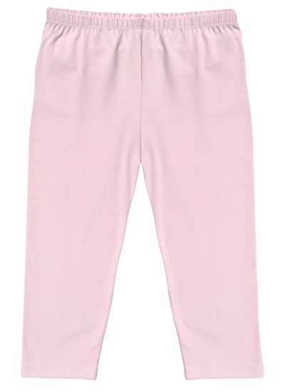 81208c18 CAOMP Girl's Capri Crop Leggings, Organic Cotton Spandex, School or Play  Pink 3 /