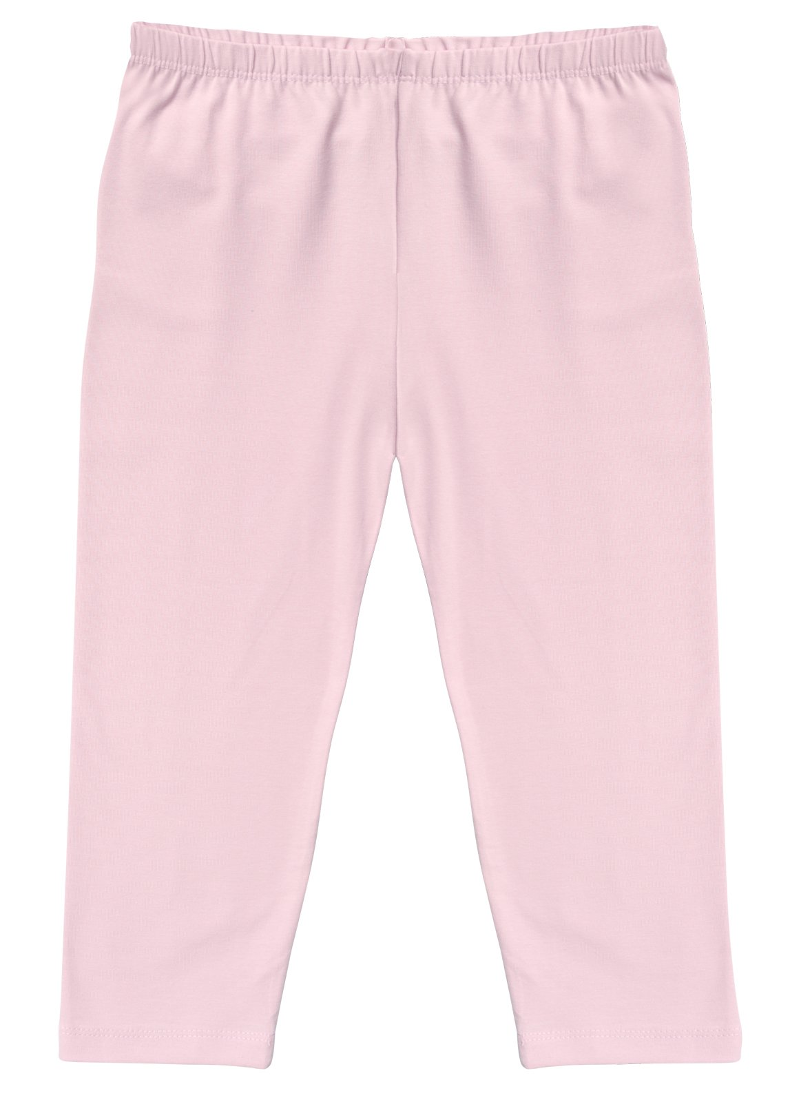 CAOMP Girl's Capri Crop Leggings, Organic Cotton Spandex, School or Play Pink 3 / 4