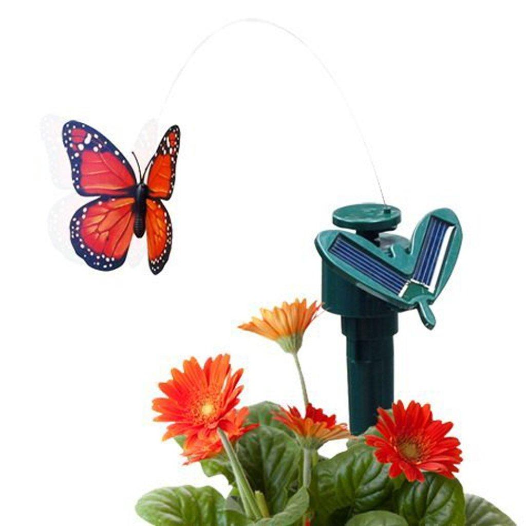 Blumenbeet Homyl 2 St/ück Tanzender Solar Schmetterling Vogel Kolibri Solarstecker der Hingucker auf Ihrer Terrasse Balkon Blumenkopf Garten