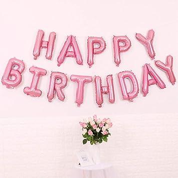 Amazon.com: Decoraciones de cumpleaños, globos de feliz ...