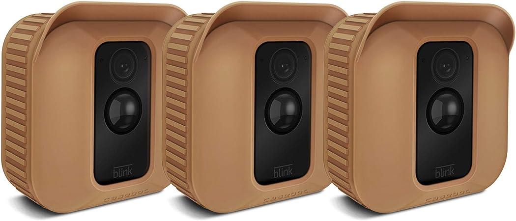 Compatible avec Blink Outdoor anti-poussi/ère Anti-UV pluie Blanc r/ésistant aux intemp/éries Lot de 2 coques de protection en silicone pour cam/éra Blink Outdoor