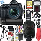 Canon EOS 5D Mark IV 30.4MP DSLR Camera + EF 24-70mm IS USM Lens BG-E20 Battery Grip Accessory Bundle