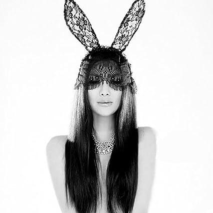 Chinatera cartucho de tinta negra en ropa interior de conejo y velo de diseño de mujer