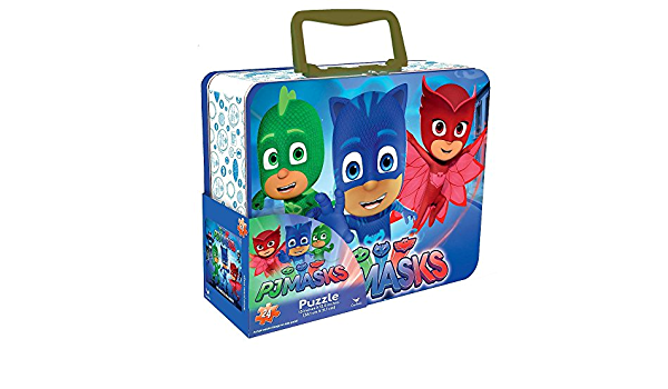 PJ Masks Lunch Box Tin with Handle Themed Jigsaw Puzzle - 24 ...