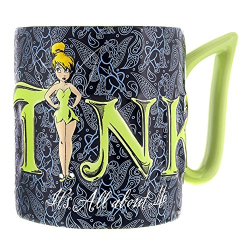 Kitchen Disney Tinkerbell - Disney Parks Exclusive Tinkerbell Tink Its All About Me Ceramic Mug, Blue, 12 ounce