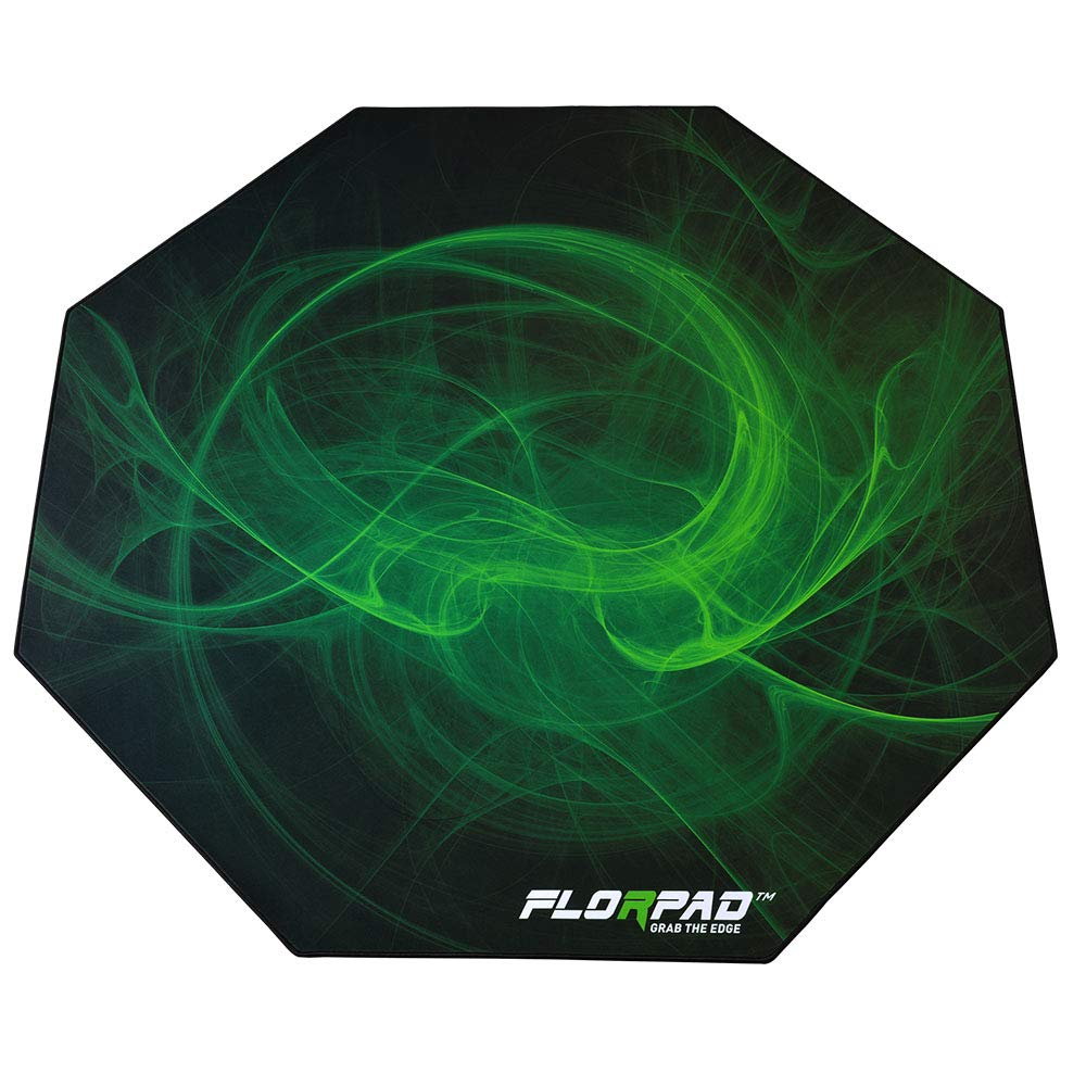 Florpad Venom Gaming Office Chair Mat | Protects All Floors | Liquid Resistant | Noise Cancelling | Smooth Surface 45'' x 45'' by FLORPAD GRAB THE EDGE