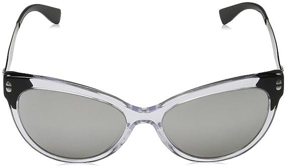 Versace Damen Sonnenbrille 0VE4330 108/5A, Braun (Havana/Lightbrownmirrordarkgold), 53