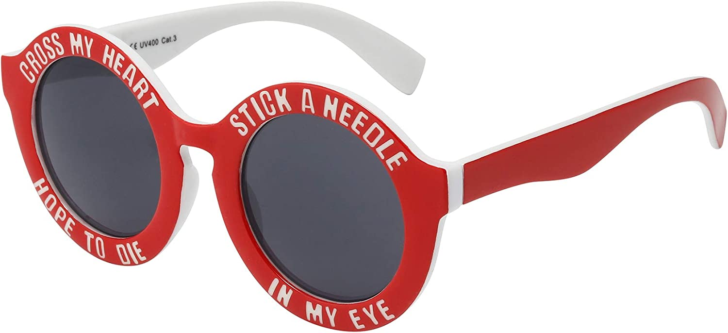 ASVP Shop® Cross My Heart & Hope To Die Stick a Needle in My Eye Sunglasses