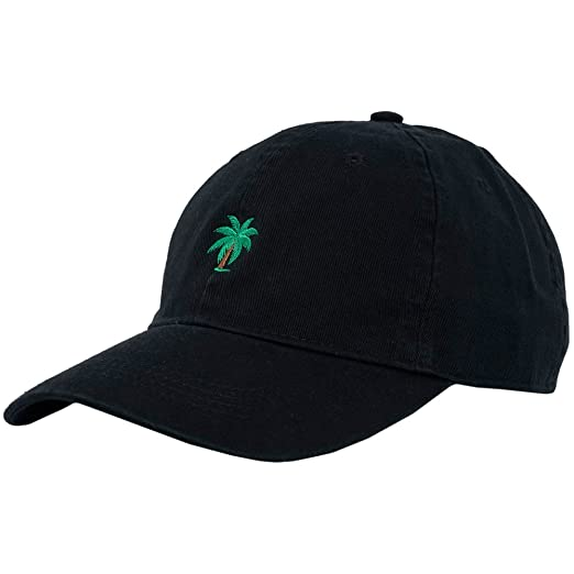 8c545ab28e7 Palm Tree Curve Bill Hat Baseball Cap Black Adjustable at Amazon ...