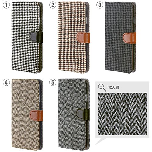 Noble Type Fabric Diary Case for iPhone 6 Plus (Houndstooth /Black & Grey)