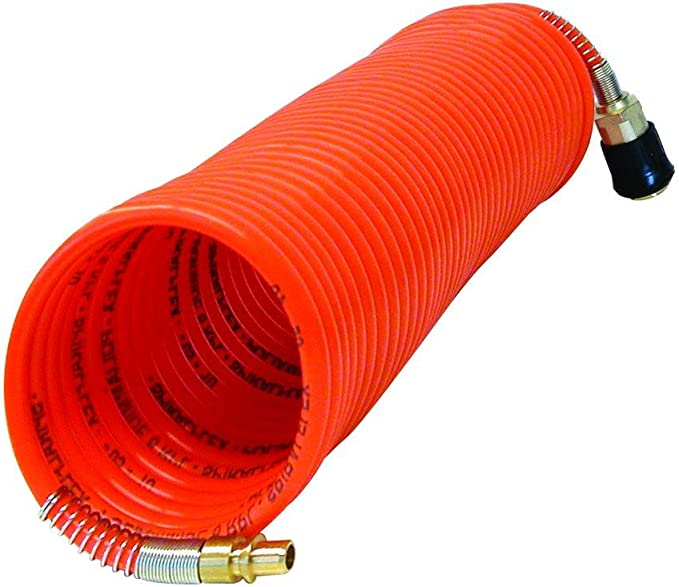 Carpoint 0685885 Color Naranja Tubo en Espiral para Aire comprimido 10 m