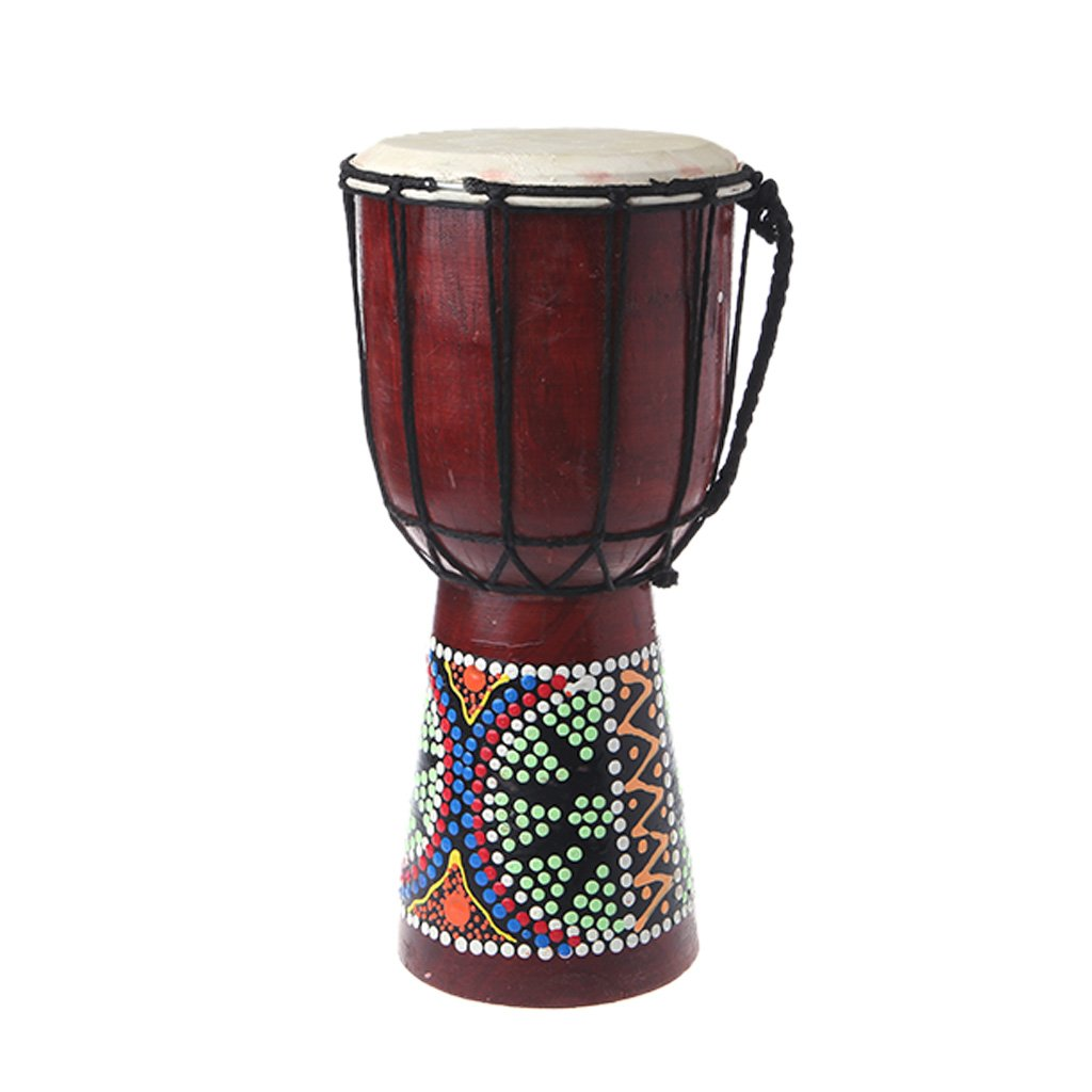 ULKEME 30cm Professional African Djembe Drum Bongo Wooden Good Sound Musical Instrument