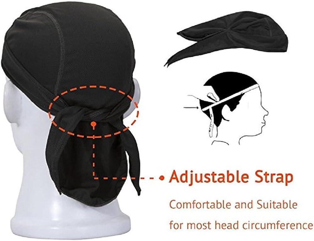 Adjustable Tie Headband Sweat Wicking Head Hair Wrap Cap Pirate Bandana Beanie