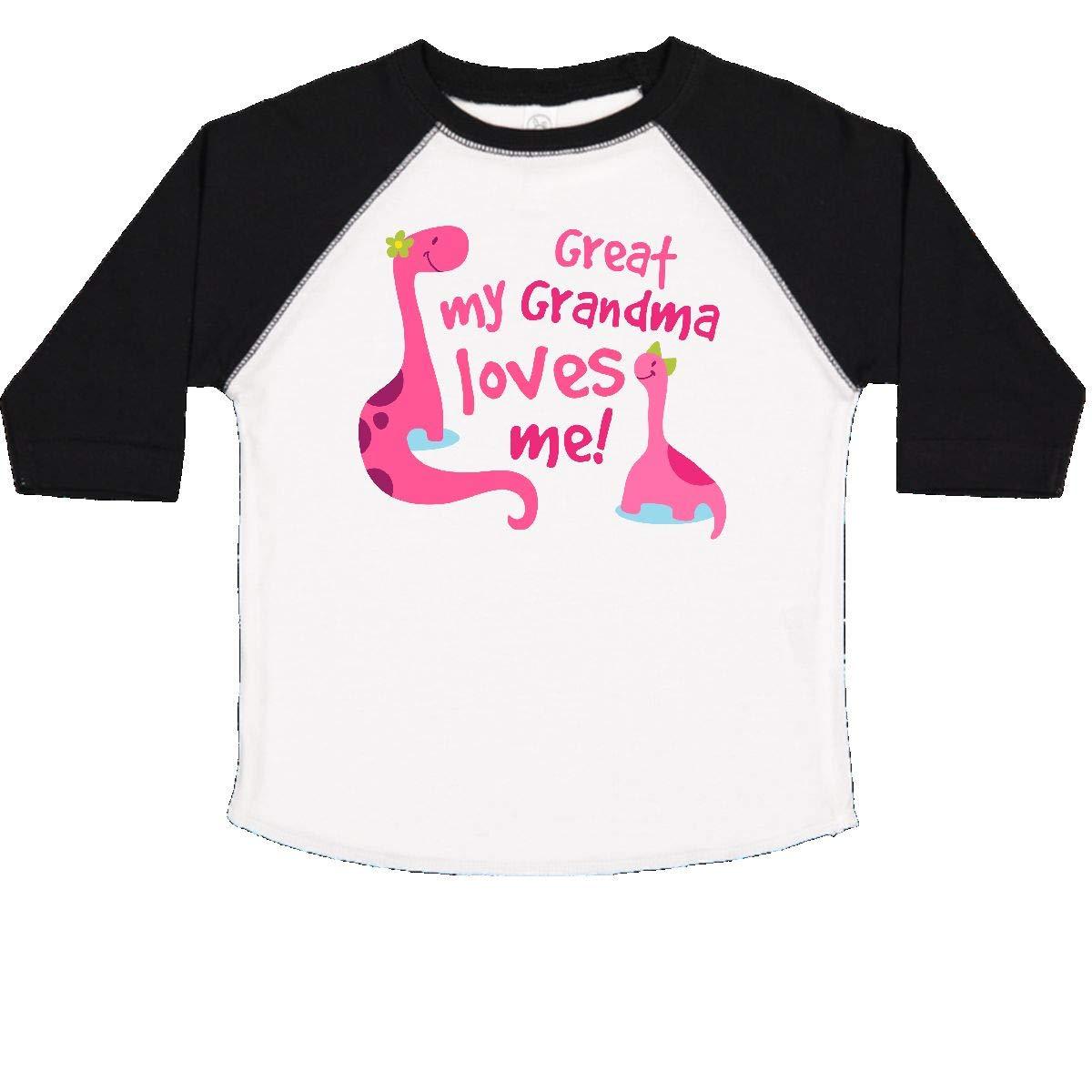 Great Grandma Loves Me Granddaughter Toddler T-Shirt 2059e inktastic