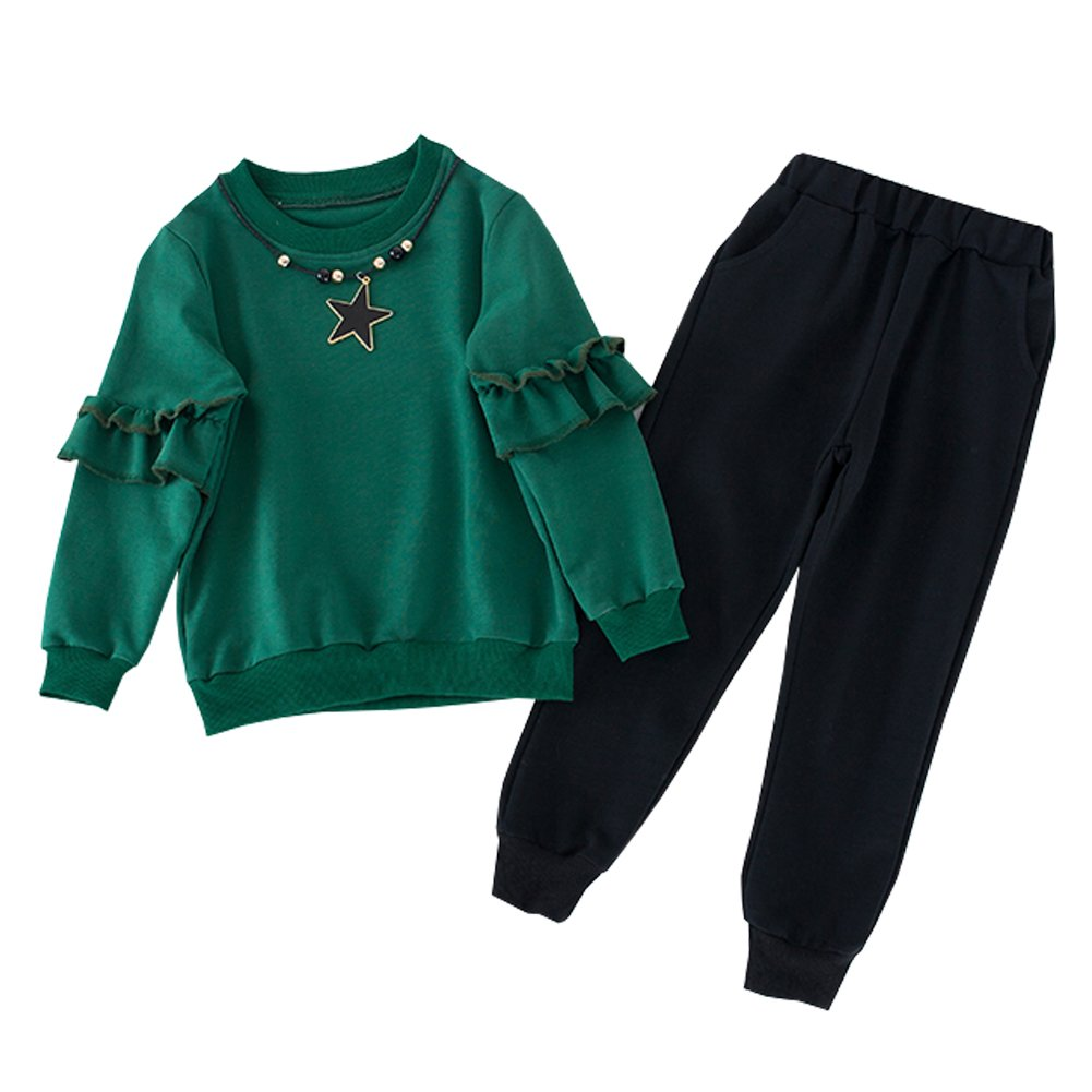 M&A Girls Long Sleeve Top and Pant Set 2Pcs Spring Autumn Outfit