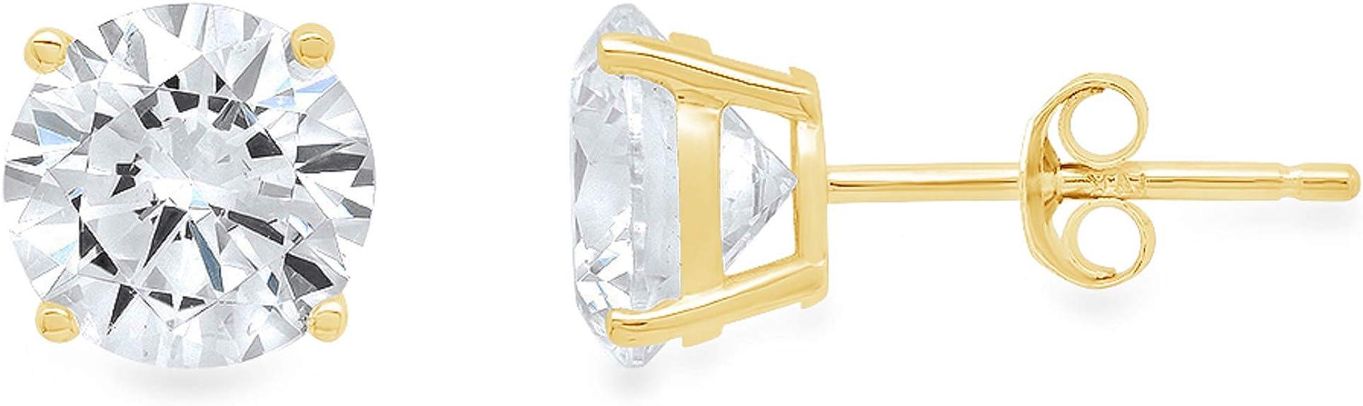 4101 0.90 cttw \u2022 Brilliant Hoop Earrings \u2022 Brilliant Cut Diamond Simulant \u2022 All Around Stones Prong Set Earring \u2022 Bridal Earrings