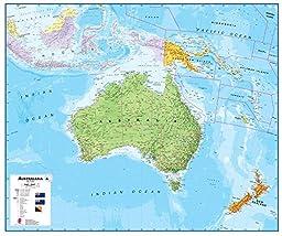 Maps International Australasia Wall Map (Laminated)
