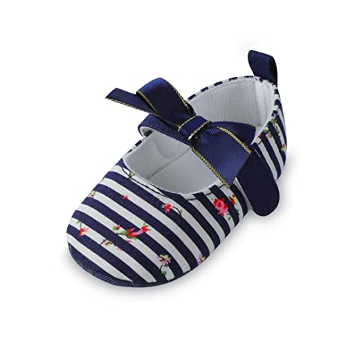 a7e22fb37e25a Lanhui Infant Baby Sandals Girls Bow Stripe Sneaker Anti-Slip Soft Single  Shoes