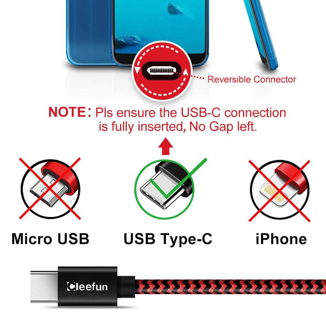 Ultra Resistente Nylon Cable para Samsung Galaxy S10 S9 S8 A40 A50 A70 M20 M30s CLEEFUN Cable USB Tipo C de Carga R/ápida Cable USB C Corto Xiaomi Mi 8 9 9T Moto G6 G7 Redmi Note 7 8 0,3m 2 Pack