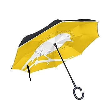leisisi pájaro Reverse paraguas diseño doble capa resistente al viento UV Protección reverso paraguas de viaje
