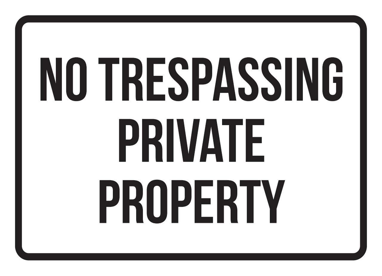 Amazon.com: No Trespassing propiedad privada prohibido ...