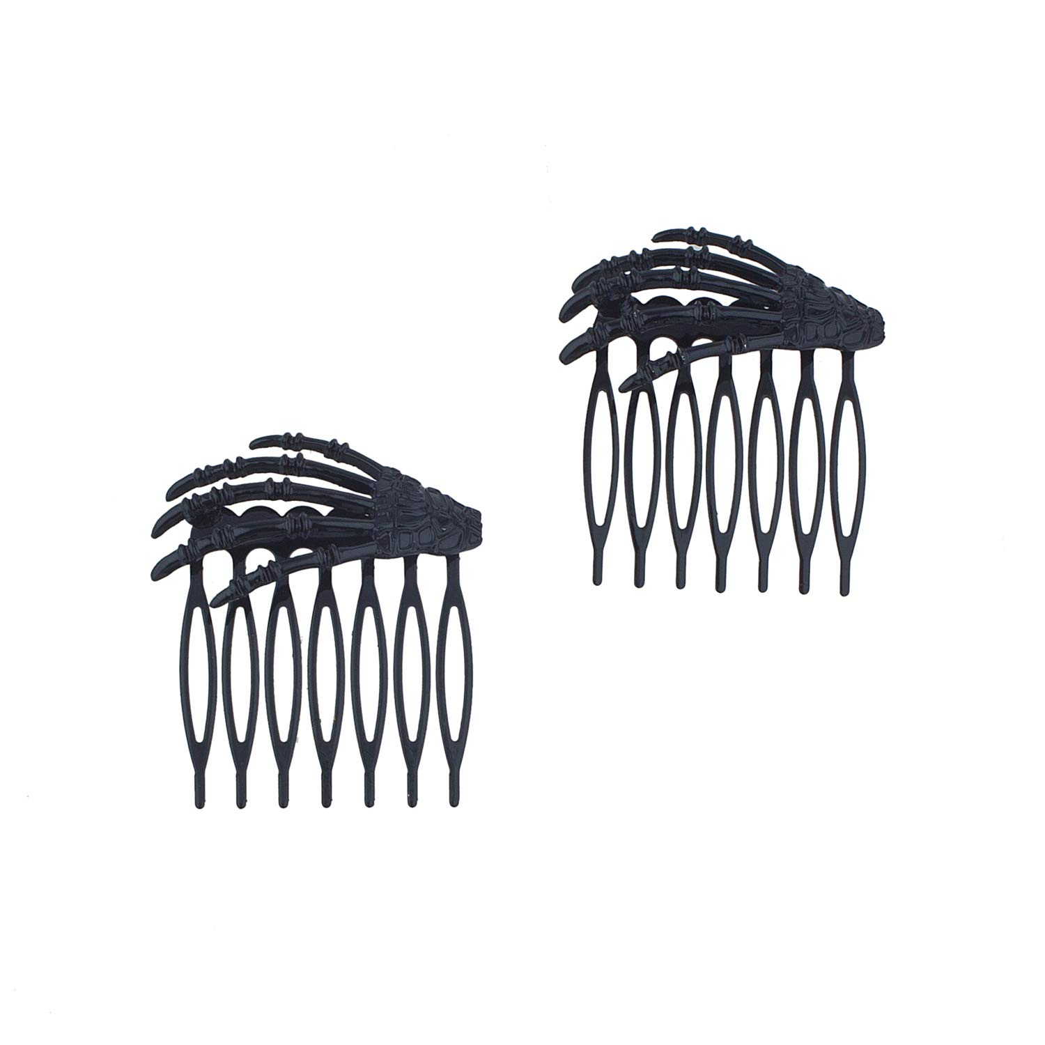 Skeleton Hands Hair Combs