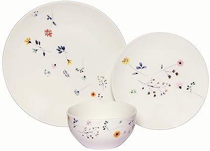 Melange Coupe - Vajilla de porcelana (18 piezas, 6 unidades ...